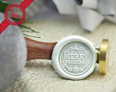 Merry Christmas - Christmas Collection Wax Seal Stamp by Get Marked (WS0261)