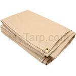Flame Retardant Tarps: Tan Vinyl 22 oz Summer Kitchen Roof