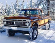 Bid for the chance to own a No Reserve: 1974 Ford at auction with Bring a Trailer, the home of the best vintage and classic cars online. Vintage Pickup Trucks, Classic Ford Trucks, Old Ford Trucks, Ford 4x4, Car Ford, 4x4 Trucks, Classic Cars, Custom Trucks, Vintage Cars