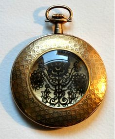 ... framed in antique gold watch ) Egyedi AUR-ÓRA medál  Rábaközi  hímzésminta 9f9699c09a