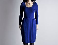 Hey, I found this really awesome Etsy listing at https://www.etsy.com/listing/129678099/royal-blue-st-john-sweater-dress-xs