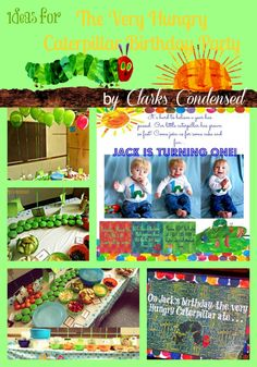 ideas for The Very Hungry Caterpillar Birthday Party