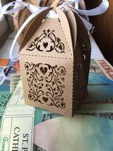 100 pièces Kraft Papier Emballage Boîte Boîte D'emballage Cadeau avec ruban De Mariage Pour Des Bonbons À La Main Savon/Chocolat Cadeau Boîtes(China (Mainland))
