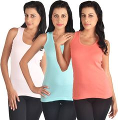 Comfty Sports Sleeveless Solid Women's Multicolor Top | Buy Comfty Sports Sleeveless Solid Women's Multicolor Top at Best Price in India | Flipkart.com
