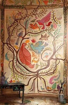 Rapunzel's Bird Wall Painting Tangled by: Claire Keane Awesome mural for little girls room