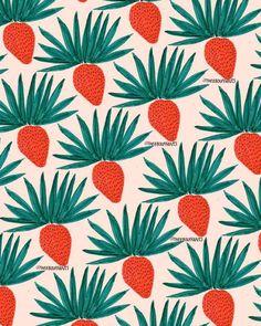 Strawberries/Leaves.