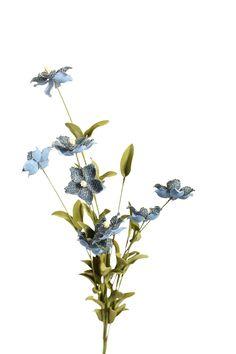blue burlap flower spray  #vyninc #burlap #flowers #branches http://www.vynflowers.com/category/burlap/burlap-NEW