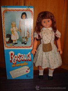 MUÑECA ROSAURA DE JESMAR PELIRROJA. EN SU CAJA ORIGINAL Y FUNCIONANDO.