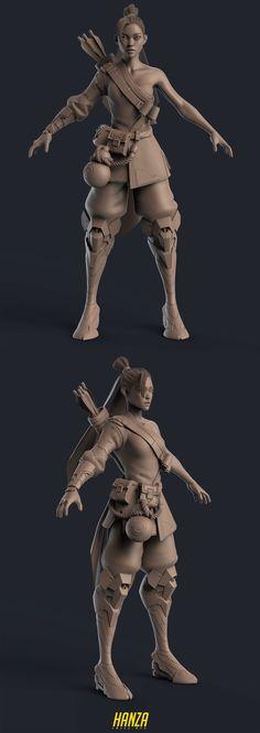 Hanza 3D Fan Art by Jay Hill – zbrushtuts