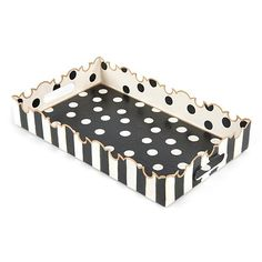 MacKenzie-Childs Small Dot Tray - Small Dot Tray by MacKenzie-Childs at Neiman Marcus Whimsical Painted Furniture, Painted Chairs, Hand Painted Furniture, Funky Furniture, Paint Furniture, Repurposed Furniture, Furniture Makeover, Mackenzie Childs Furniture, Mackenzie Childs Inspired