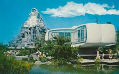 Disney - House of the Future in Disneyland, California by 9teen87's Postcards, via Flickr