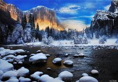 See Yosemite. The Top Yosemite Things To Do. If you go to Yosemite things to do are in abundance. However, there are a few things that should be at the top of your list. The top things you'll want to Landscape Pictures, Nature Pictures, Yellowstone National Park, National Parks, Yellowstone Winter, Happy Winter Solstice, Welcome Winter, Winter Sunset, Winter Scenes