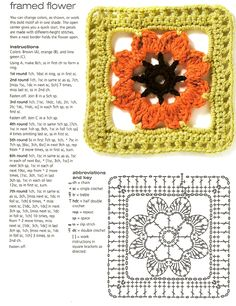Lots of Free Crochet Patterns ● Here @  Beautifulcrochetstuff.com ● So many gorgeous free afghan square patterns - Flower Square