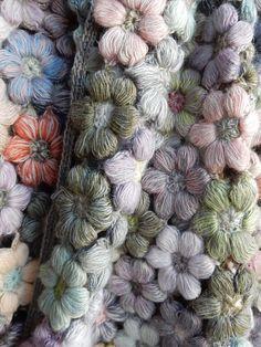 """""""Freesia"""" Large Wool Scarf NRG"""
