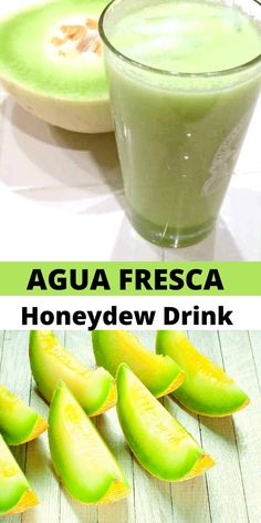 This Honeydew Drink is the perfect refreshing summer refresher! Made easily in with fresh honeydew. Drink Recipes Nonalcoholic, Rum Cocktail Recipes, Easy Drink Recipes, Drinks Alcohol Recipes, Simple Recipes, Delicious Recipes, Mexican Food Recipes, Yummy Food, Refreshing Summer Drinks