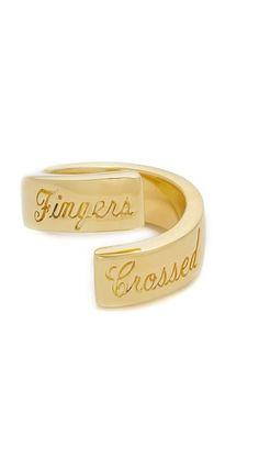 Elizabeth and James Fingers Crossed Ring