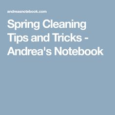 Spring Cleaning Tips and Tricks - Andrea's Notebook