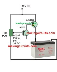 12V 100Ah Battery Charger Circuit Basic Electronic Circuits, Electronic Circuit Design, Electronic Schematics, Electronic Engineering, Lead Acid Battery Charger, Battery Charger Circuit, Automatic Battery Charger, Electronics Basics, Electronics Projects