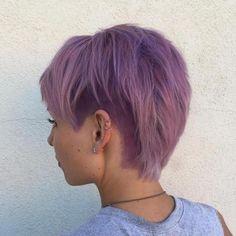 pastel purple layered pixie