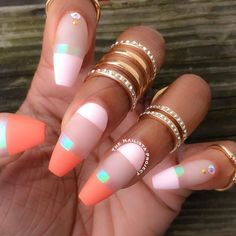 We are offering you a fun chance to take a look at a great variety of coffin nails designs that will inspire you to make some experiments. Check out these 60 amazing ideas. Ranging from simple and solid to totally extravagent.