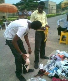 Nigerian Students Caught Buying Fairly Used Underwear for Girlfriends Ahead of Valentine's Day