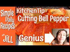 Genius Kitchen Tip Cutting Bell Pepper