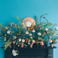 How to Create a Spring Garden Mantelpiece