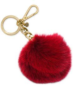 MICHAEL Michael Kors Key Charms Fur Pom Pom Handbags   Accessories - Macy s e6ccd0c92fa