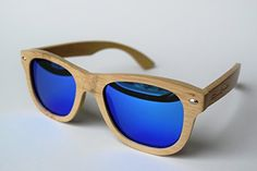 Men's Sunglasses Bamboo Wood UV Polarized Lenses Fine Gra…