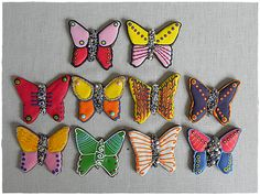 tucked gingerbread, christmas, butterfly