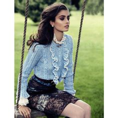 Vogue Spain September 2015 Taylor Marie Hill by Miguel Reveriego ❤ liked on Polyvore featuring models, people and pictures
