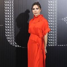 Victoria Beckham arrives at a Vogue dinner in Madrid