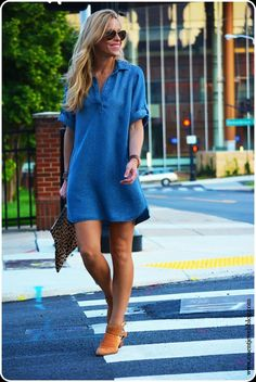 Easy Breezy Chambray dress for those fluctuating days!