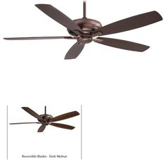 """View the MinkaAire Kola-XL 5 Blade 60"""" Indoor Ceiling Fan - Remote and Blades Included at LightingDirect.com."""