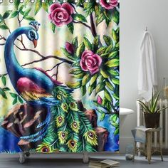 Peacock Shower Curtain, Shower Curtains, Home Decor Christmas Gifts, Ring Home, Bath Mat Sets, Bathroom Sets, Cushions On Sofa, Floor Rugs, Cover