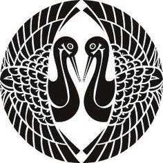 Japanese family crest Birds