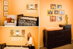 Love this owl themed nursery and the simplicity of it