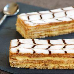 Mangia Magna - From Italian Culinary Tradition, only Homemade Authentic Recipes from Italy Bakery Recipes, Dessert Recipes, Napoleon Pastry, Bon Dessert, British Baking, Yummy Cakes, Italian Recipes, Sweet Recipes, Holiday Recipes