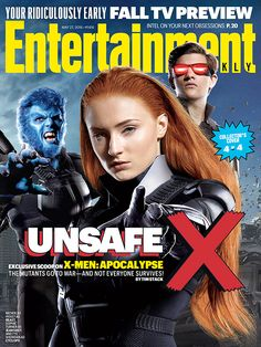 The biggest X-Men film of all-time is nearly here! To coincide with the film's release, Entertainment Weekly has officially unveiled their upcoming X-Men: Apocalypse-themed collector's covers! Entertainment Weekly, Now Magazine, Movie Magazine, Magazine Covers, Tony Stark, Sophie Turner, Marvel Dc, Saga, Science Fiction