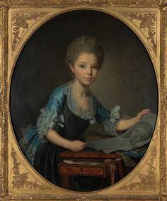 Joseph-Siffred Duplessis (French, 1725-1802 ) La Jeune Artiste. 1760