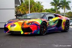 Lamborghini Aventador Roadster By Duaiv ,   Probably the craziest paint job ever seen on a Lamborghini, created a this one-off Aventador Roadster with French Musician and Painter Duaiv. The ...