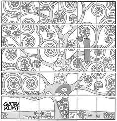 Klimt Tree of LIfe collaborative art project diagram