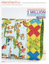 Free pillowcase pattern - X block band. Fabric line: Welcome to Bear Country! by the Berenstains for Moda Fabrics.