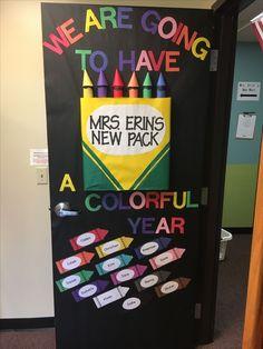 Crayon door back to school door We are going to have a colorful year back to school door our new pack crayon class