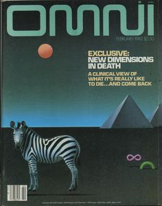 Omni was a science and science fiction magazine published in the US and the UK. It contained articles on science, parapsychology, and short works of science fiction and fantasy Science Fiction Magazines, Tech Magazines, Science Magazine, Magazine Art, Magazine Covers, Diesel Punk, Cyberpunk, Pop Art, Art Articles