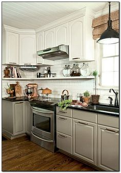 Off White Kitchen Cabinets With Antique Brown Granite 27 antique white kitchen cabinets [amazing photos gallery