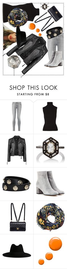 """Wearable"" by tiffanie22 ❤ liked on Polyvore featuring 7 For All Mankind, Michael Kors, Boohoo, Cathy Waterman, Versace, Gianvito Rossi, Chanel, MANGO, Yves Saint Laurent and Topshop"