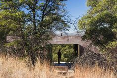 The off-grid house is located in a remote landscape on the southwestern bajada of the Canelo Hills in Southern Arizona's San Rafael Valley, two hours southe...