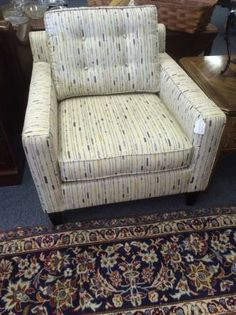 Selling this nice club chair cheap cause we really need room.  Our inventory changes daily.  We have over 5000 sq. ft. of great resale values. Excellent quality at a fraction of the price of new.  Come on in and take a look at all our furniture.   <br>  <br>Delivery Available  <br>All Major Credit Cards Excepted Accepted  <br>  <br>  <br>TREASURE HUNT  <br>2300 S. Elmhurst Rd.   <br>Mt. Prospect, IL 60056  <br>  <br>PHONE:  <br>  show contact info  <br>  <br>  <br>EMAIL:  <br>  show contact…