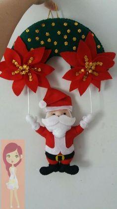 Decoración noche de reyes Felt Christmas Decorations, Felt Christmas Ornaments, Christmas Wreaths, Holiday Decor, Felt Crafts Diy, Christmas Projects, Christmas Crafts, Simple Christmas, Christmas Time